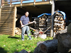 Nard Chopping Wood