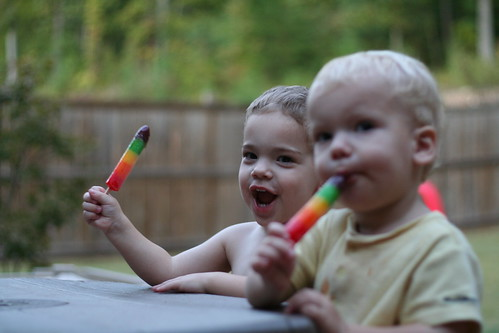 Enjoying and End of Summer Popsicle