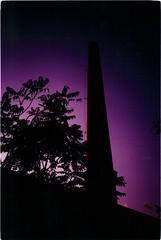Sunset (-Alec-) Tags: sunset xpro tramonto fuji purple cross olympus xa2 velvia 100 process viola top20xpro ciminiera