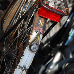 The rear end of an Union bicycle (Michiel2005) Tags: bike bicycle union reflector fiets achterspatbord