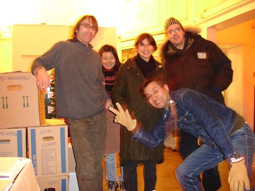 Letztes Foto im GOTO mit Betreibern und Gästen. Januar 2005
