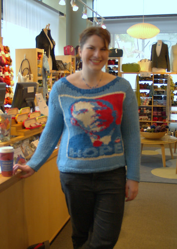 Obama Knitter Girl