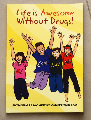 The CNB Anti-Drug essay writing competition book illustrations cover