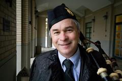 Patrick (elston) Tags: portrait smile hat tie carnegiemellon piper bagpiper 13100 100strangers patrickregan