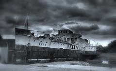 ship isleofwight wreck steamer blackwhitephotos mvryde