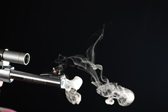 Smoking gun 2 (Obsessive Compulsive Photographer) Tags: nikon gun smoke super smoking revolver handgun mag 44 magnum redhawk ruger d40 strobist