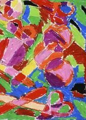 Petra, 3rd Grade (a_stlkr) Tags: art pastels warmcolors 3rdgrade coolcolors elementaryart httptheartcartwordpresscom