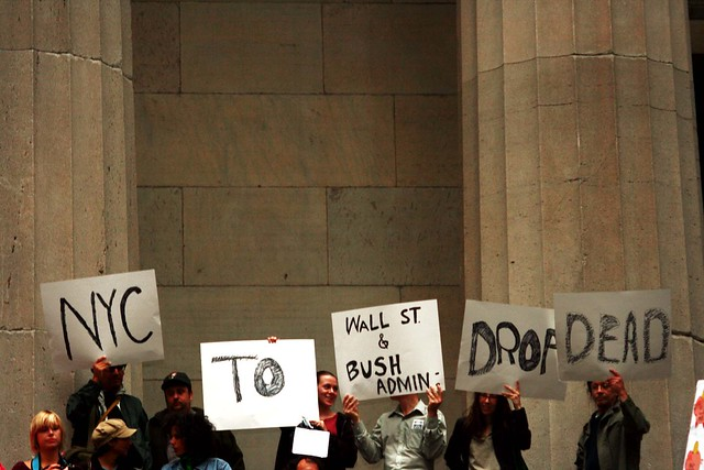 NYC TO WALL ST.: BUSH / CHENEY: DROP DEAD.