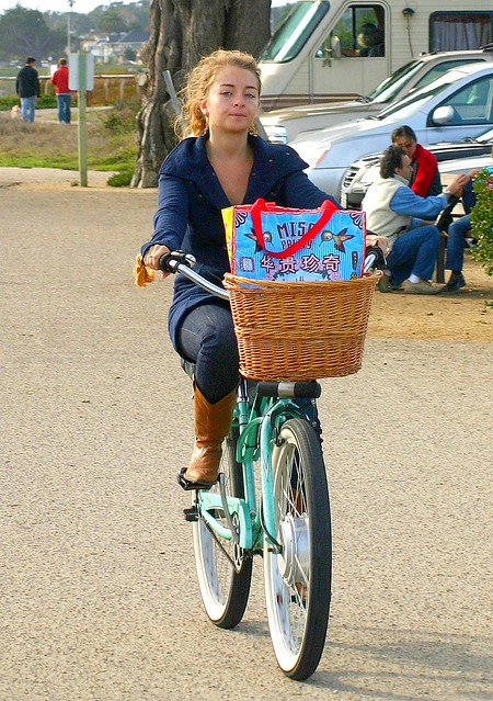 Santa Cruz girl on a bicycle