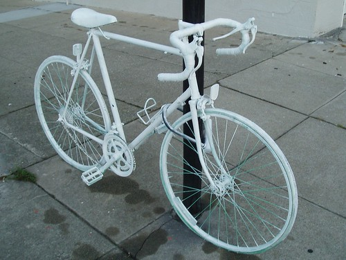 White Bicycle 01