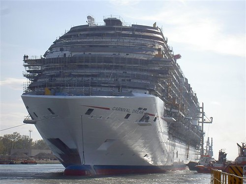 Carnival Dream floats out