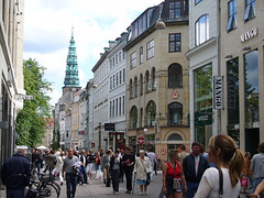 Copenhagen's famous Stroget (by: Miguel Bernas, creative commons license)