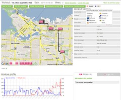 1st Y! Purple Bike Ride - Nokia Sports Tracker Beta