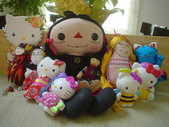 Dotee And Friends (shutupandfold pictures) Tags: wood vintage japanese dolls kokeshi dotee