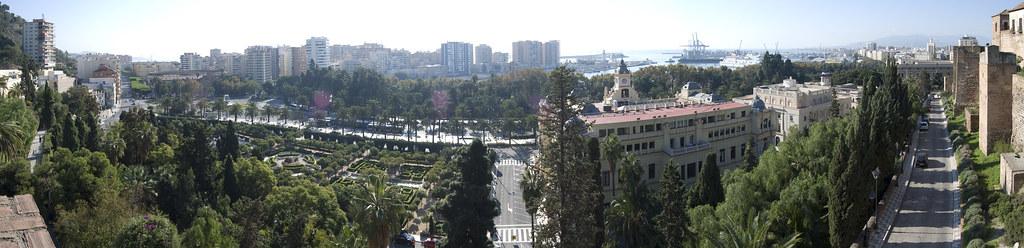 Panorámica Málaga desde la Alcazaba