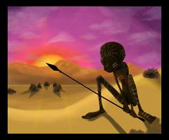 zombie (rocketnumber9) Tags: africa sunset illustration painting australia tribal virtual fela kuti aborigin