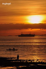 Sunrise, December 13, 2008 (docjabagat) Tags: sea sunrise boat seaside ship cebu cebucity mywinners goldstaraward docjabagat