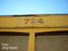 E-07420 Sa Pobla (Mallorca) Carris Lisboa Electrico 734 (Joerg Seidel) Tags: lisboa lisbon mallorca tramway carris balearen electrico tranvia balear sapobla strasenbahn electricodelisboa mallorcaeisenbahn