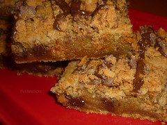 ButterFinger Blondies! (steamboatwillie33) Tags: baking bars candy chocolate desserts blondies fiestaware butterfinger