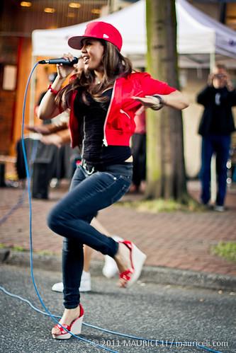 Jerrica Santos at Fête de la Musique in Vancouver