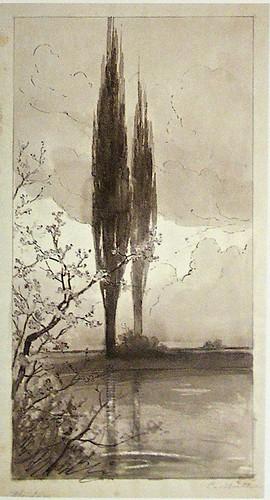 Carl Mueller - Cypresses - 1897