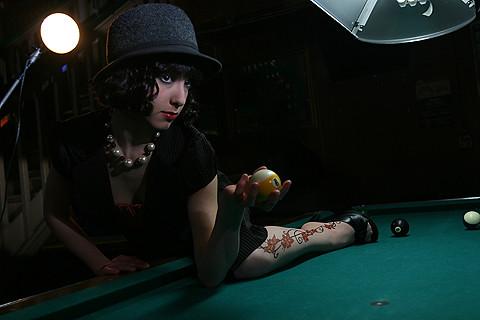 Tara on Pool Table