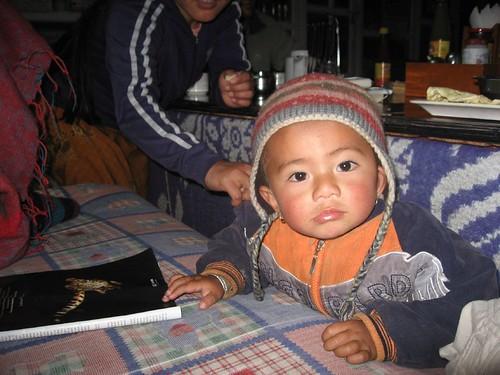 Nepali boy at Himalaya Guest House in Chomrong