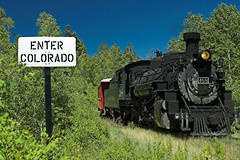 Welcome to New Mexico (Big Diehl Photo) Tags: railroad train riogrande cts steamlocomotive cumbrestoltec drgw k36