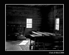 Cades Cove church (cdbird) Tags: old canon bench tennessee alter smokymountains hardwood cadescove 40d chrisdbird