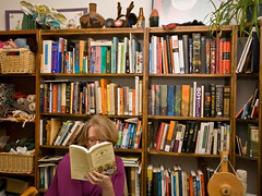 Consideration - 365:10 (LollyKnit) Tags: books bookshelf 365 bookshelves personallibrary
