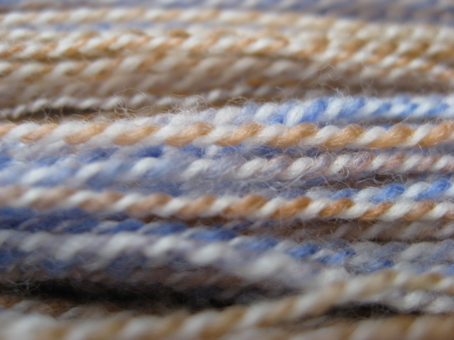 Peach in Blue Laceweight