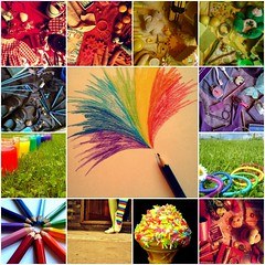 #25/365- Of Rainbows and broken cell phones (Her life in pictures) Tags: pictures life color colour broken colors wednesday toys is rainbow flickr colours phone mosaic awesome her oh colored 365 dear coloured fds picnik moblie minski zenhe