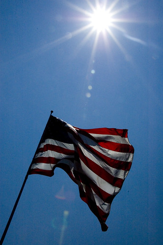 Flag with Sunlight