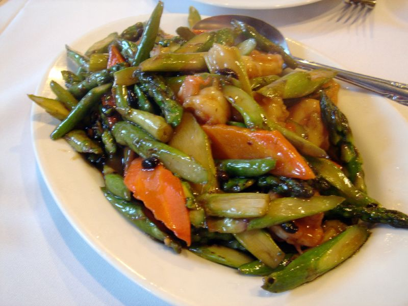 Prawns and Asparagus
