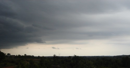 Dark cloudy evening