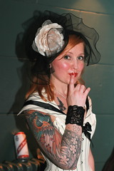 White Mischief (siberfi) Tags: world party white london fashion tattoo club night ink vintage la costume dress wm days retro tattoos fancy scala around kingscross 2008 mischief julesverne inked eighty londonist lascala aroundtheworldin80days aroundtheworldineightydays whitemischief whitemischiefaroundtheworldineightydays