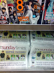 Miss Loi at the News Stand