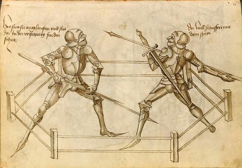 02-Duelo de armas en el cuadrilátero con armadura 36v