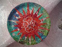 gaudiesque sun blast (grannie annie taggs) Tags: barcelona mosaic gaudi