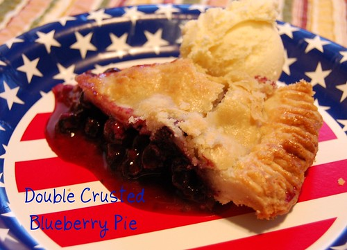 Double Crusted Blueberry Pie