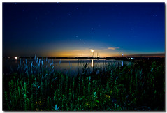 MOON SET FOLLOWING SUNSET (_Val W) Tags: longexposure nightphotography nightimages shorelines searchthebest beaches moonlight nightshots afterdark startrails longexposures istds2 rondeaupark rondeaubay pentax1017fisheye valwest imgp1484