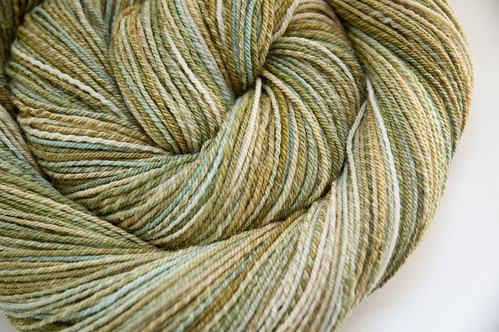 Handspun Lovesticks sw merino in Patina