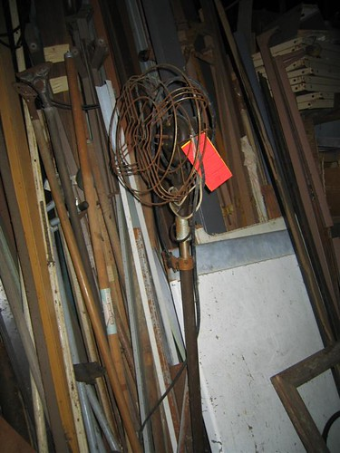 Old rusted fan in the trailer