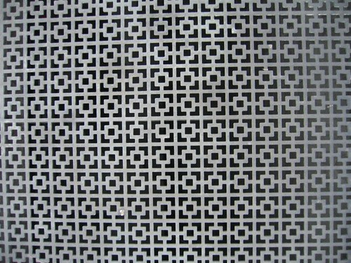 Square pattern on vent grate
