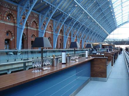 Eurostar's St Pancras International - Champagne Bar