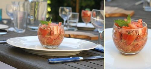 Concassé de Tomate aux pesto Menthe & Amande