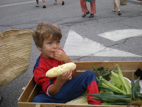 Spiderman spotted eating NH corn