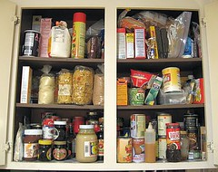 Before: Pantry 2 in a jumble