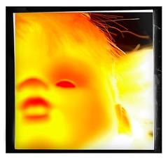 fire rubber ({fuzzonce}) Tags: orange eye yellow closeup puppy toy toys doll faces nikond70s rubber lips giallo dolly occhio arancione puppe gomma bambola faccia toyz muneca plastica labbra nikonsb600 giocattolo rubberdolly balocco strobist sigmadc1770