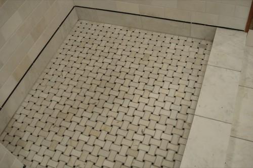 Searching For Plain White Basketweave Floor Tile